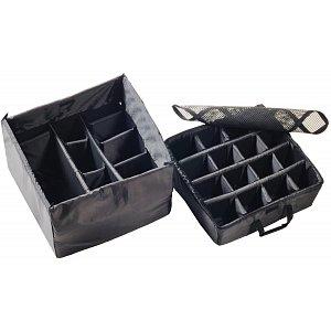 Přepážky na suchý zip pro odolný kufr PELI case CUBE 0370