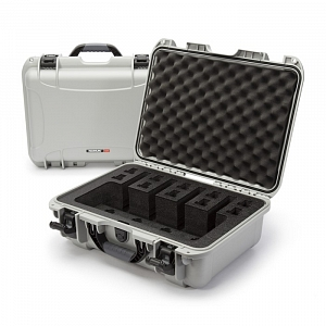 NANUK - Odolný kufr model 925 4UP Pistol - stříbrný
