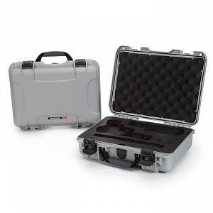 NANUK - Odolný kufr model 910 2UP Classic Pistol - stříbrný