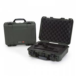 NANUK - Odolný kufr model 910 2UP Classic Pistol - zelený
