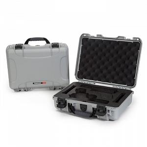 NANUK - Odolný kufr model 910 2UP Glock Pistol - stříbrný