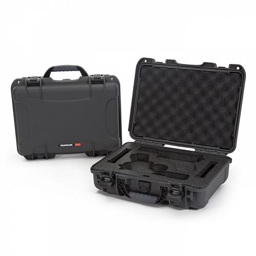 NANUK - Odolný kufr model 910 2UP Glock Pistol - šedý
