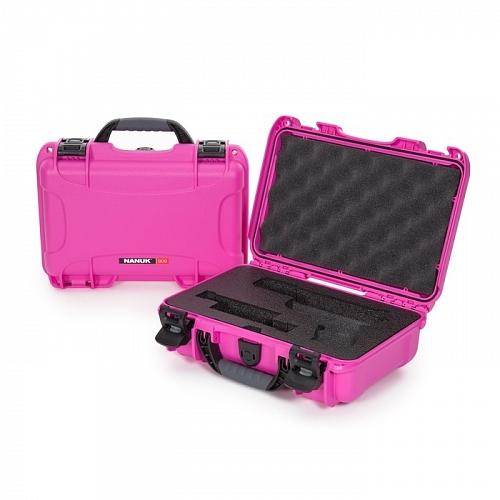 NANUK - Odolný kufr model 909 Glock Pistol - růžový